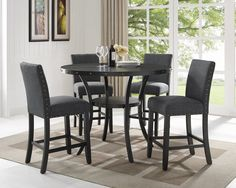 Avery 5pc Pub Set - Grey . . . #furniture #homedecor #interiordesign #design #decor #home #living #office #family #entertainment #luxury #affordable #sale #discount #freeshipping #canada #toronto #usa #america #fashion #design #bedroom #comfort #happy #style #rest #relax #dinner #lunch #dine #breakfast #food