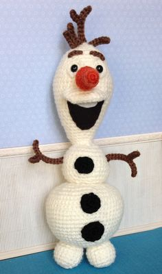 Crochet Olaf the snowman  From FROZEN by CherriesGallore on Etsy, $30.00