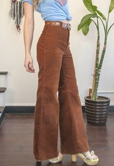 RARE 70S DITTOS HIGH WAISTED BELL BOTTOM CORDUROY FLARE PANT