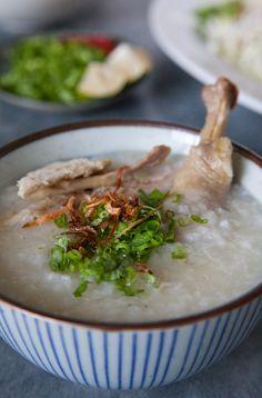 Ga Xe Phay, Mien Ga, Chao Ga (Vietnamese Chicken Salad, Chicken Glass Noodle Soup, Chicken Congee)