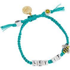 Venessa Arizaga Let It Bee Bracelet ($53) ❤ liked on Polyvore featuring jewelry, bracelets, charm jewelry, bead charms, initial jewelry, bee jewelry and initial bangle