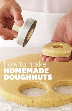 Learn how to make fresh homemade doughnuts for any occasion: www.bhg.com/...