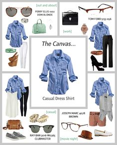 4 different ways to wear the The Classic Button Down Shirt. #RealStyle