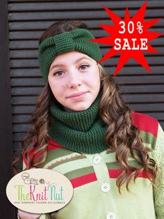 on 30% SALE - Knit Scarf Infinity Winter Cowl Knitted Green, Green Neck Warmer, Hand Knit Cowl, Hand Knitted Scarf - pinned by pin4etsy.com