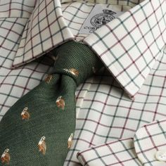 Green Wine Medium Check Tattersall Shirt from Cordings Country Attire, Country Outfits, Country Wear, Tattersall Shirt, Der Gentleman, Southern Gentleman, Check Shirt Man, Mens Fashion Blog, Male Fashion