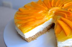 Lemon, mango & coconut cheesecake recipe