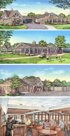 Country Club.  Renderings by Bondy Studio.