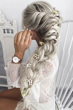 diy ponytail hairstyle ideas for you 48 Easy Braid Styles, Ponytail Hairstyles, Hairstyle Ideas, Braided Hairstyles For Long Hair, Elsa Hairstyle, Braided Prom Hair, Stylish Hairstyles, Teenage Hairstyles, Beautiful Hairstyles