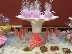 White, pink and gold birthday party