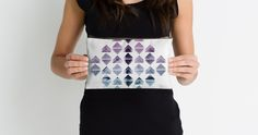"""""""Rhombus and peaks"""" Studio Pouches by VanGalt 