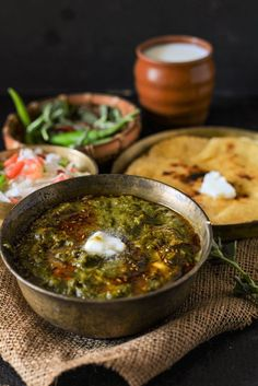Sarson ka Saag Recipe Sarson ka saag is a very popular recipe from Punjab ,Though it is quite easy and simple to make but taste amazing with makki ki roti ,salad and a glass of fresh butter milk. Do try this amazing saag this winter ! Indian Veg Recipes, Vegetarian Recipes, Cooking Recipes, Healthy Recipes, Ethnic Recipes, Curry Recipes, Free Recipes, Delicious Recipes, Healthy Food