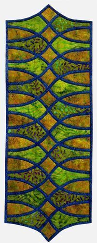 Swing It table runner design, quilt-as-you-go, by Ursula Riegel