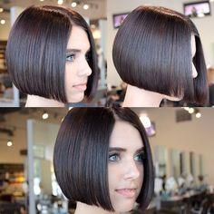 Bob hairstyles are timeless beauty and they are getting more and more popular among women including celebrities. So today we've gathered the classy bob hair. Short Bob Haircuts, New Haircuts, Short Blunt Bob, Very Short Bob, Classic Bob Haircut, Medium Hair Styles, Short Hair Styles, Hair Dos, Men's Hair