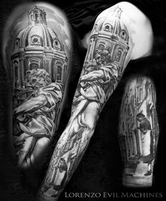 Rione Monti S.Matteo - St.Matthew Church, Realistic Tattoo by Lorenzo Evil Machines, Roma - Italia