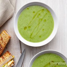 Scallion Soup with Apple & Gouda Grilled Cheese