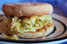 Spicy Scrambled Egg Sandwich