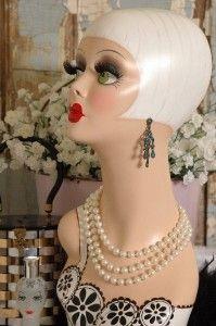*Enchanting Dress Forms & Mannequin... mannequin head
