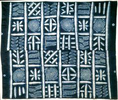 YORUBA Woman's wrapper ~ Adire ~ from the Yoruba people   ca. 20th century   Cotton and indigo