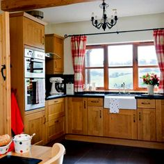 Lovely Modern Kitchen Curtains Providing Dramatic Textures Modern Kitchen  Window Curtains In Bright Red That