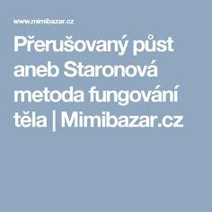 Přerušovaný půst aneb Staronová metoda fungování těla | Mimibazar.cz