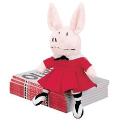 Olivia the Pig Plush and her storybooks