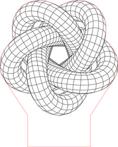 Torus illusion vector file for CNC - Lampe 3d, Isometric Drawing, Muster Tattoos, Laser Art, Optical Illusions, Optical Illusion Tattoo, 3d Drawings, Illusion Art, Zentangle Patterns