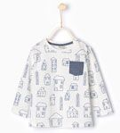 Little houses T - shirt - T - shirts - Baby boy - Baby | 3 months - 3 years - KIDS | ZARA United States