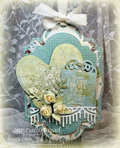 Stamps - Our Daily Bread Designs Clean Heart, ODBD Custom Ornate Hearts Die, ODBD Custom Beautiful Borders Dies, ODBD Custom Recipe Card and Tags Dies