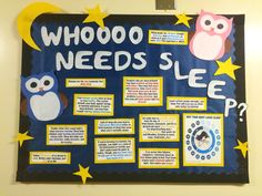 September RA bulletin board idea. Great for reminding residents that sleep is important.