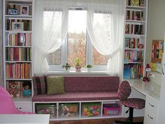Living room and every kids room. Maybe even the tv room since I love the idea so much! My Room, Girl Room, Girls Bedroom, Bedroom Decor, Room Interior Design, Interior Decorating, Plafond Design, Home Office Decor, Home Decor