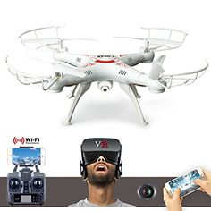 X5 SW1 Air Quadcopter FPV 24GHz WiFi Remote Control Helicopter Drone 2 Modes With PVF HD 3D VR Camera Glasses For iOS And Android Device White -- Check out this great product. (This is an affiliate link and I receive a commission for the sales)
