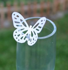 FREE SHIPPING 25 Paper Butterflies Wedding Party Wine by aemiamore, $4.75