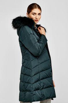 J2017  Pedro del Hierro Long fur sports jacket Green
