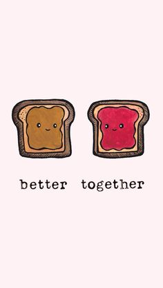 better together. | #greetingcards #foodart