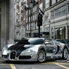 When you don't have anything left to buy, spend 2.5 mill on a Bugatti, why not   Chrome Bugatti Veyron by Alex Penfold