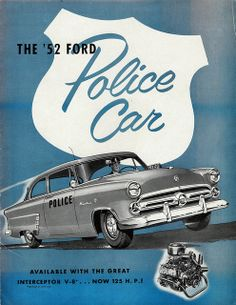 Ford Police Cars brochure (1952)