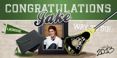 Lacrosse Customized Banner for Jake! Personalized Banners, Custom Banners, Graduation Banner, Lacrosse, Believe In You, Congratulations, Handmade Gifts, Swag, Etsy