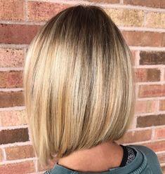 Sleek Blonde Balayage Lob