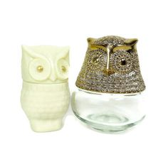 Vintage OWL Bottles Avon Glass Decanter by PeachyChicBoutique