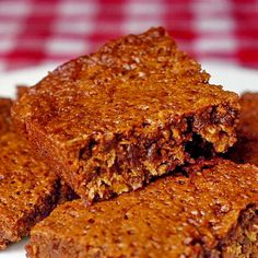 Parkin. This is supposedly a Newfoundland recipe but I'd never heard of it. Regardless, this is super yummy. Think extremly moist gingerbread with a hint of oatmeal. I made this along with my other Christmas baking and it will definitely become part of my annual bake-fest. ~TM