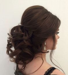 Best Ideas For Wedding Hairstyles : Featured Hairstyle:Elstile; Quince Hairstyles, Bride Hairstyles, Hairstyle Ideas, Easy Hairstyles, Elegant Wedding Hair, Wedding Hair And Makeup, Trendy Wedding, Bride Makeup, Bridal Hair