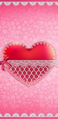 Heart Wallpaper, Black Wallpaper, Pink Love, Bling, Glitter, Bows, Shapes, Iphone Wallpapers, Wallpaper Backgrounds