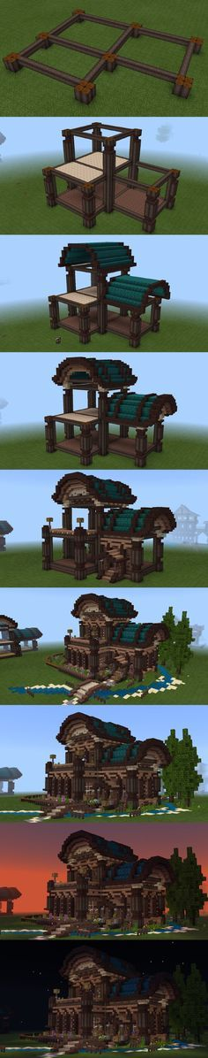Minecraft house. Something like this could be built in many different blocky games (Creativerse, Portal Knights..)