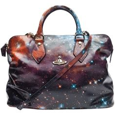 leather, cosmic, eccentric, unique, briefcase, slouchy Vivienne Westwood Galaxy Bag from: littlemissblush