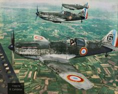 Free French Air Force's Dewoitine D.520s over southern France, (probably) late summer of 1944. The Dewoitine D.520 was the French Air Force's best single engine fighter at the outbreak of WWII....