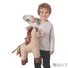 Brown Horse Piñata. Have fun trying to break open this papier-mâché piñata! Fill with your own candy and toys for a delightful party ...