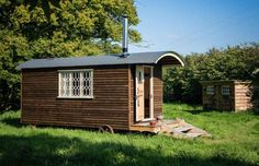 Shepherd's Hut, Sussex, UK  Alternatively, you can stay in the Shepherd's Hut, which is this tiny micro-home that sits beside Withyfield Cottage and acts as the perfect annex for a large family.  - Coolstays.com