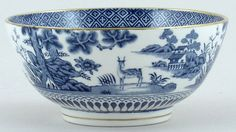 Booths A rare and very early piece Lowestoft Deer Pattern