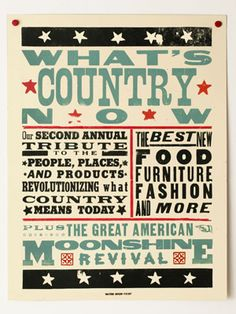 Thank you to the famed Hatch Show Print for creating our What's Country Now poster!