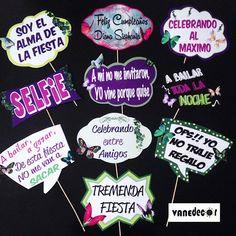 Props para unos 15 años, tematicos #props#propsphotobooth#mariposas#photobooth#mariposasparty#15años - vanedecor